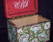 Wooden Recipe Box - Wooden Bohemia - Handcrafted - Quality Woodwork - Heirloom Quality - Decoupaged