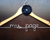 Wedding Dress Hanger, Personalized Hanger, Navy Blue Wedding, Engagement Gift, Bridal Shower Gift, Bridesmaids Gift