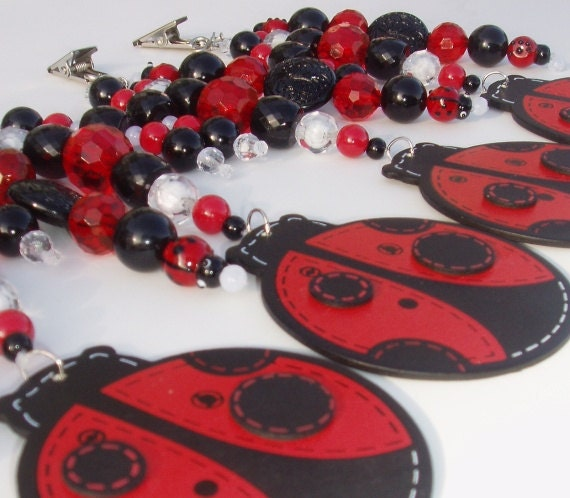 Ladybugs - Drapery Dangles / Tablecloth Weights, etc., Set of 4