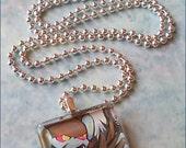 Luxray Pokemon Glass Tile Necklace