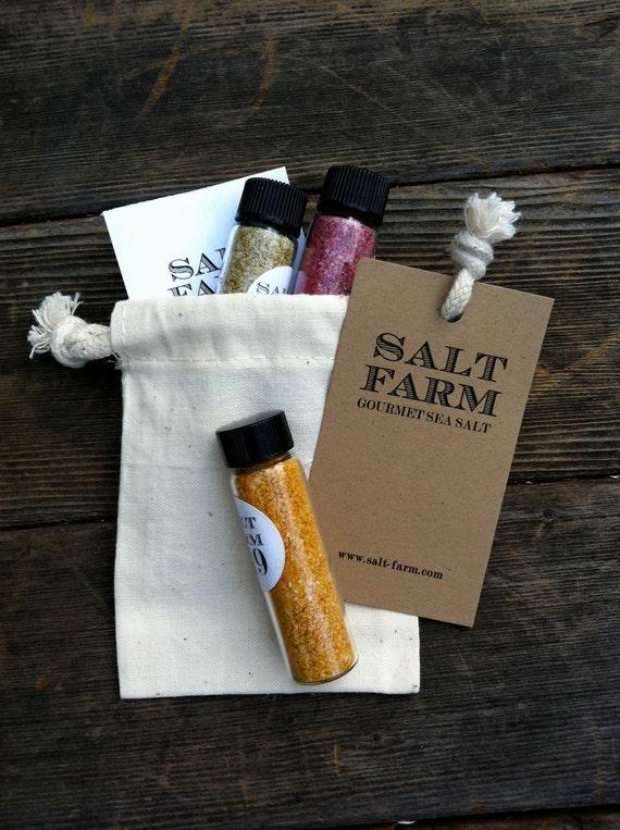 3 pack Gourmet Sea Salt Sampler