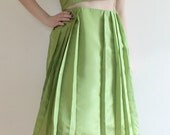Pleated Green Cut-Out Dress - Made to Order