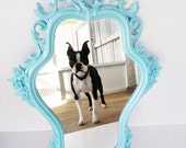 Turquoise Baroque Mirror - RESERVED
