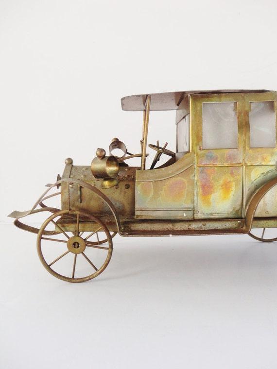 Vintage Brass Car Lamp