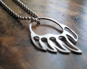 sterling silver bear paw necklace   'Left Hand Bear'