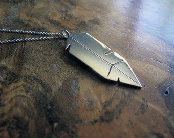sterling silver feather necklace   Birds of Prey x Beautiful Void