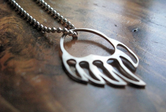 sterling silver bear paw necklace | 'Left Hand Bear'