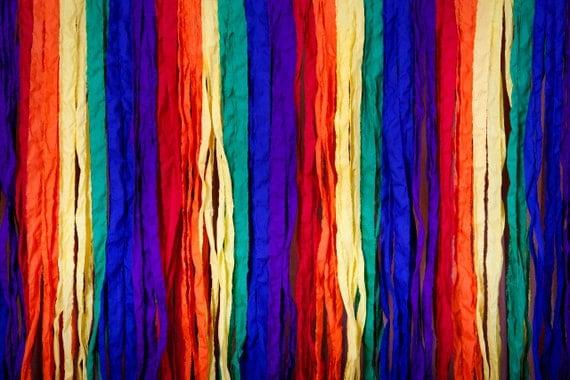 Rainbow Fabric Photo Booth Backdrop