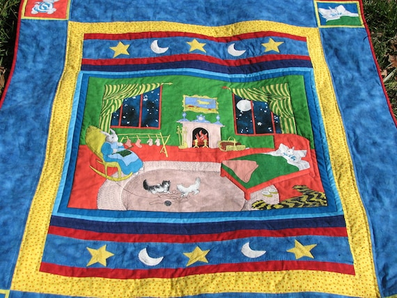 NEW PRICE Goodnight Moon story Quilt