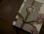Whimsical Pretty Flower Handmade Card