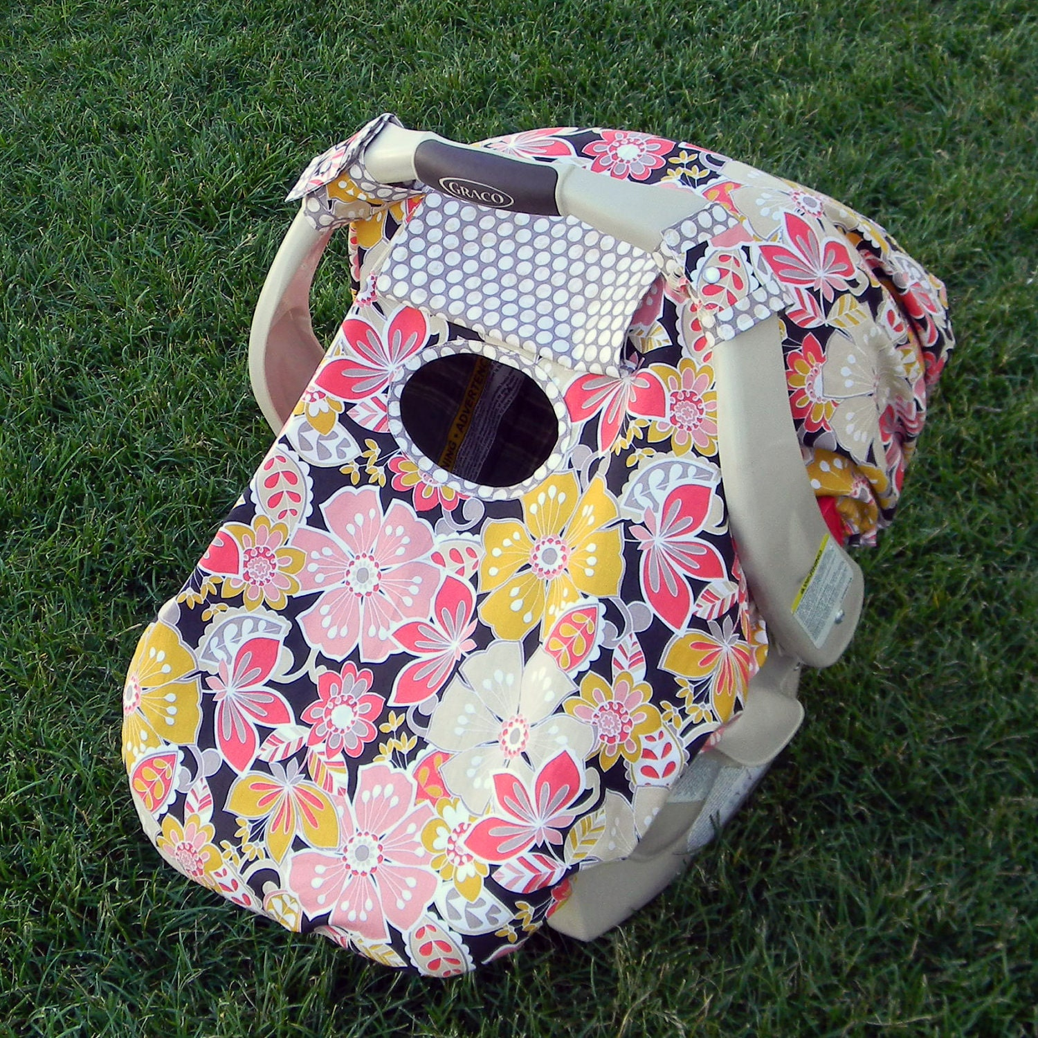 Fitted Infant Car Seat Canopy Cover Single Layer
