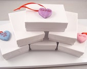 WHITE JEWELRY Gift BOXES set of 10 Free Shipping for Small Orders in United States
