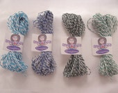 BAKER'S TWINE Blue and Green COLOR Light Blue Dark Blue Dark Green Light Green 20 yards each