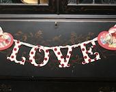 Happy Valentine's Day LOVE banner garland