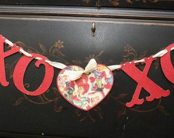 Happy Valentine's Day XO XO Banner Garland