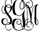 Love Monograms Classic Script 3-Initial Digital Monogram File - any color