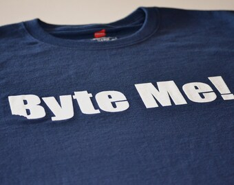 Computer tshirt funny byte me programmer t shirt geekery nerdy XS S M Xl 2xl 3xl 4xl 5xl mens womens all sizes