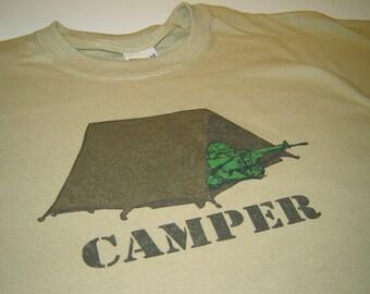 Gamer T shirt gaming camper sniper shooting games teens men console computer tshirt geekery army screenprint birthday gift for son