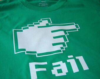 Fail shirt geek clothing funny epic fail tshirt for men teens boys birthday gift for teenagers boyfriend husband