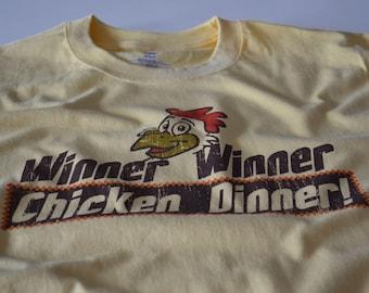 Cream Winner Winner CHICKEN DINNER blackjack t shirt mens tshirt gambling cards gift husband boyfriend father