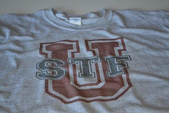 STFU University geek t shirt funny mens college geekery computer parody online lingo cotton nerdy shirt gift for student boyfriend husband