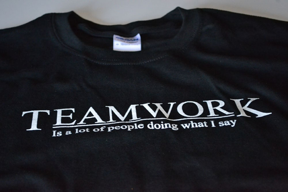 Teamwork t shirt men funny the office work shirt black