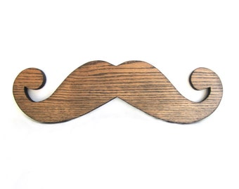 BIG MUSTACHE HANGING / Wood Burned Edges