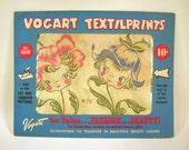 Vintage 1950's Vogart Textilprints Hot Iron Transfers 4 Packages Unused