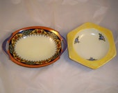 ADDITIONAL 10% OFF...SALE  2 Vintage Bavaria Dishes Beautiful Coloring Must See
