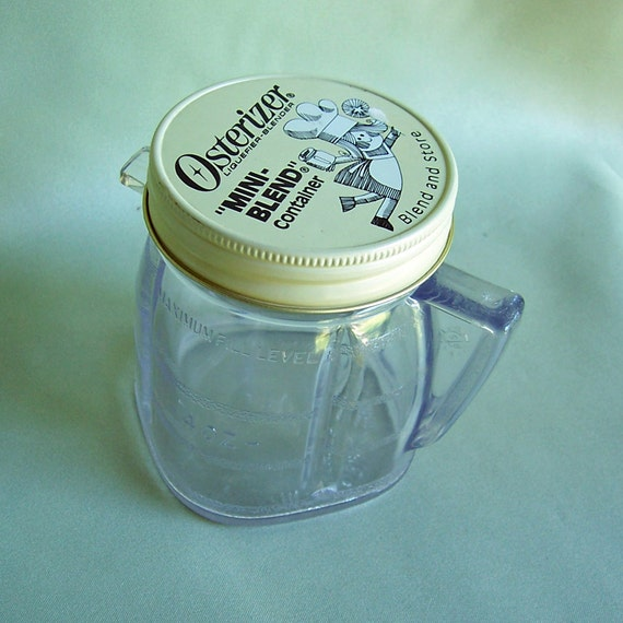 SALE  Vintage Osterizer Mini Blend or Shaker Container Mint Condition