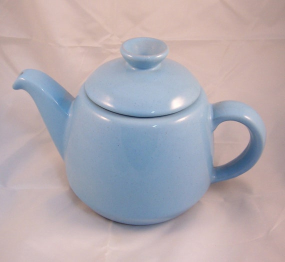 SALE  Vintage Frankoma Robins Egg Blue TEAPOT with Lid