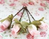 Fairytale Romance Pink Flower Hair Pins. Light Pink Flowers,Woodland Inspired, wedding hair accessories. Weddings Hair Pins - Set of 4