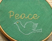 Peace Embroidery Wall Art