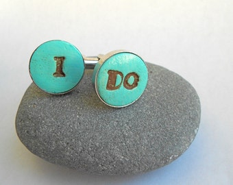 I DO Groom Wedding Cuff Links Any Color