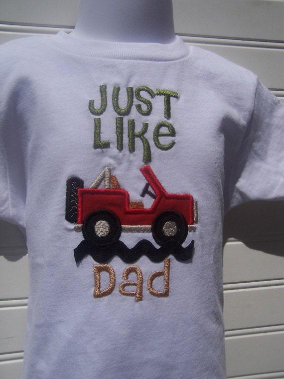 Custom Baby Boy  Jeep one piece (tm),   Jeep T shirt, Just Like Dad, Daddy's Boy Jeep Shirt