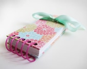 Upcycled List-Making Journal - Colorful Dahlia Flowers
