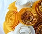 Custom Paper Flower Flowergirl or Toss Bouquet