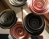 Reed diffuser arrangement with custom jumbo 2 tone paper flowers