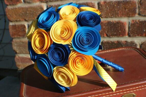 Custom Modern Paper Flower Bridal Bouquet for Amber