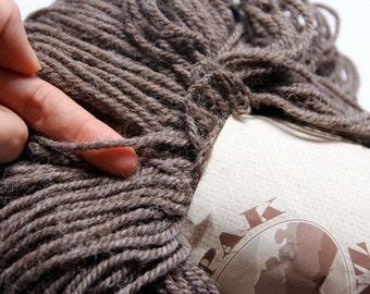 New Zealand wool yarn: grey, new wool