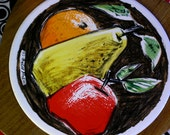 FRED PRESS CUTTINGBOARD , Ceramic Tile Insert on Cherry Wood Cheese & Fruit Cutting Board // WoW