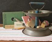 2 Tier Desk Supply Organizer Caddy Repurposed from Vintage Pie Plates
