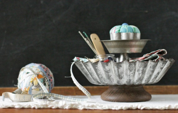 2 Tier Sewing Supplies Desk Organizer with Pin Cushion