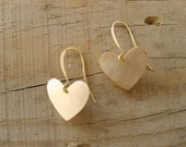 Sweet gold hearts earrings , gold heart earrings- Perfect for Valentines Day, valentine earrings