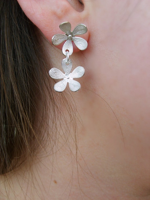 Handmade Earrings on Etsy floral