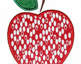 Instant Download Apple Machine Embroidery Applique Design 4x4 and 5x7