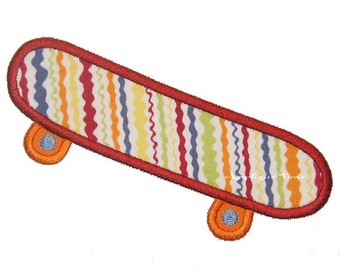 Instant Download Skateboard Machine Embroidery Applique Design 4x4, 5x7 and 6x10