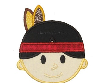 Instant Download Boy Indian Machine Embroidery Applique Design 4x4, 5x7 and 6x10