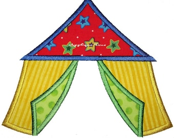 Instant Download Big Top Circus Tent Machine Embroidery Satin and Zig Zag Applique Design 4x4, 5x7 and 6x10