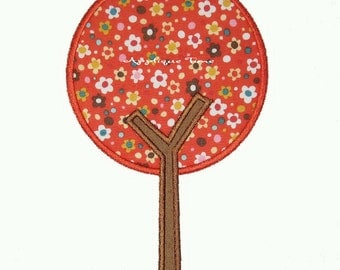 Instant Download Mod Tree Machine Embroidery Applique Design 4x4, 5x7 and 6x10